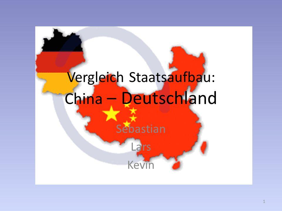 Vergleich Staatsaufbau: China – Deutschland