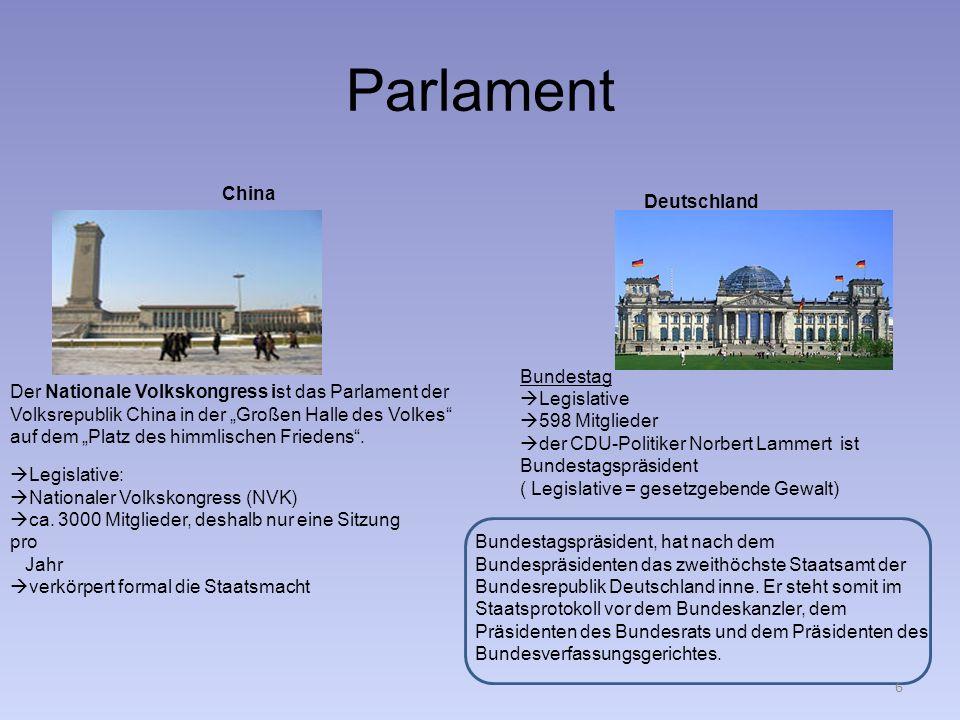 Parlament China Deutschland Bundestag Legislative 598 Mitglieder