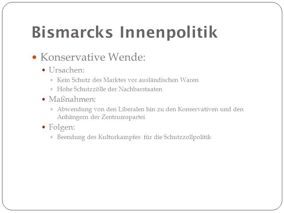 Bismarcks Innenpolitik