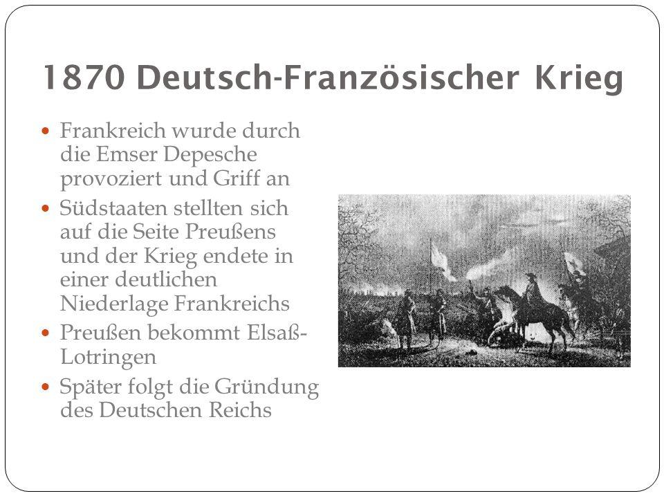 1870 Deutsch-Französischer Krieg