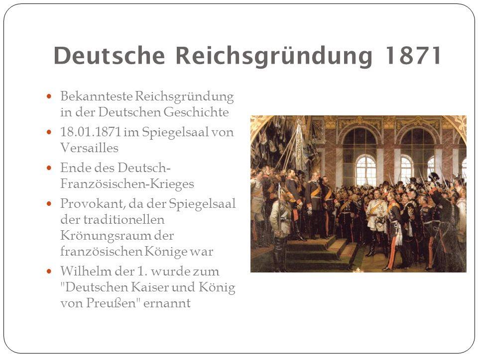 Deutsche Reichsgründung 1871