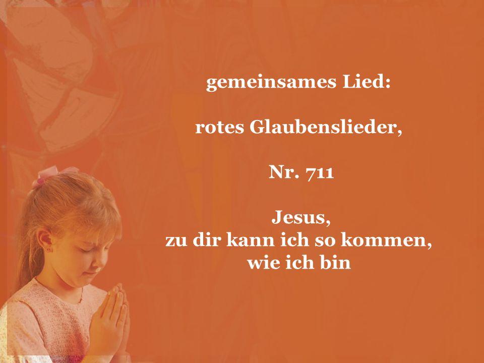 gemeinsames Lied: rotes Glaubenslieder, Nr