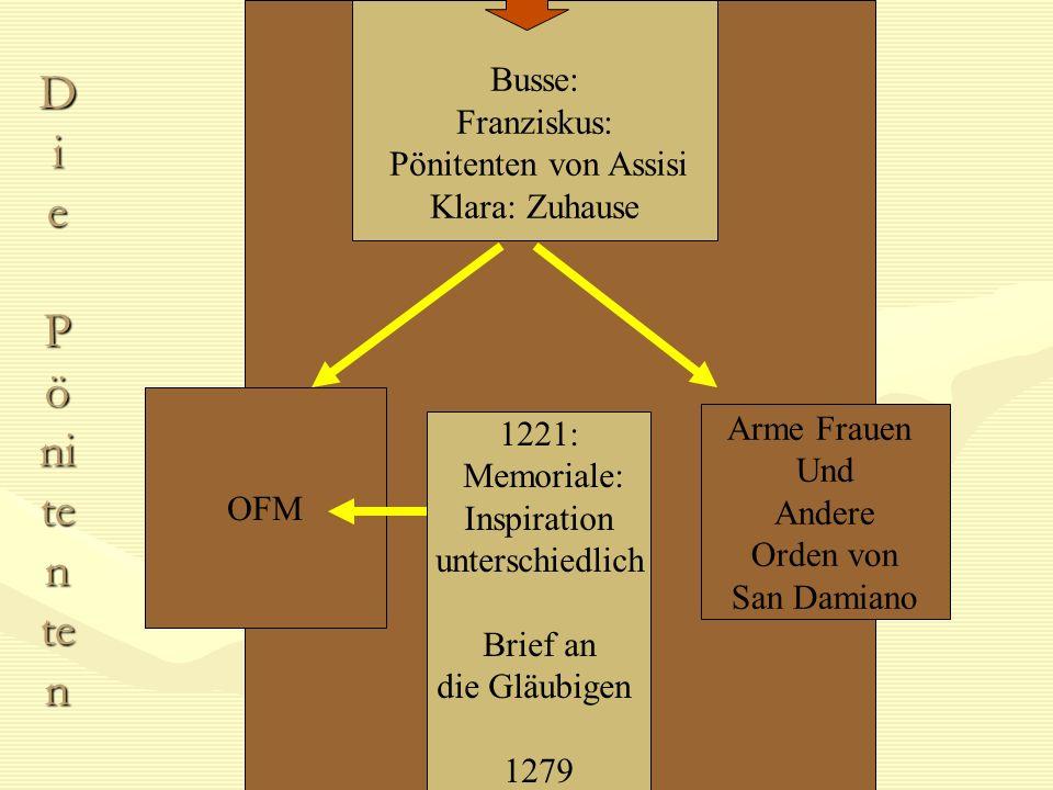 Di e Pönitenten Busse: Franziskus: Pönitenten von Assisi