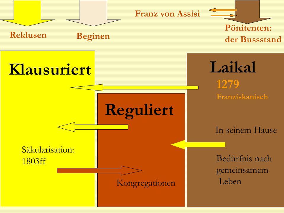 Laikal Klausuriert Reguliert 1279 Franz von Assisi Pönitenten: