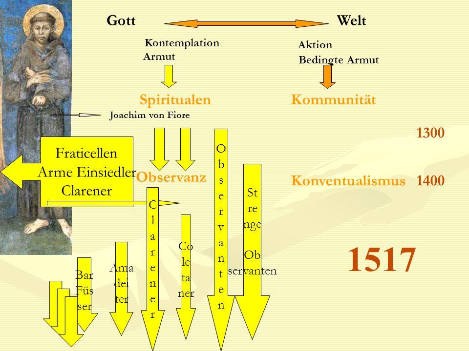 1517 Gott Welt Spiritualen Kommunität 1300 Fraticellen Arme Einsiedler