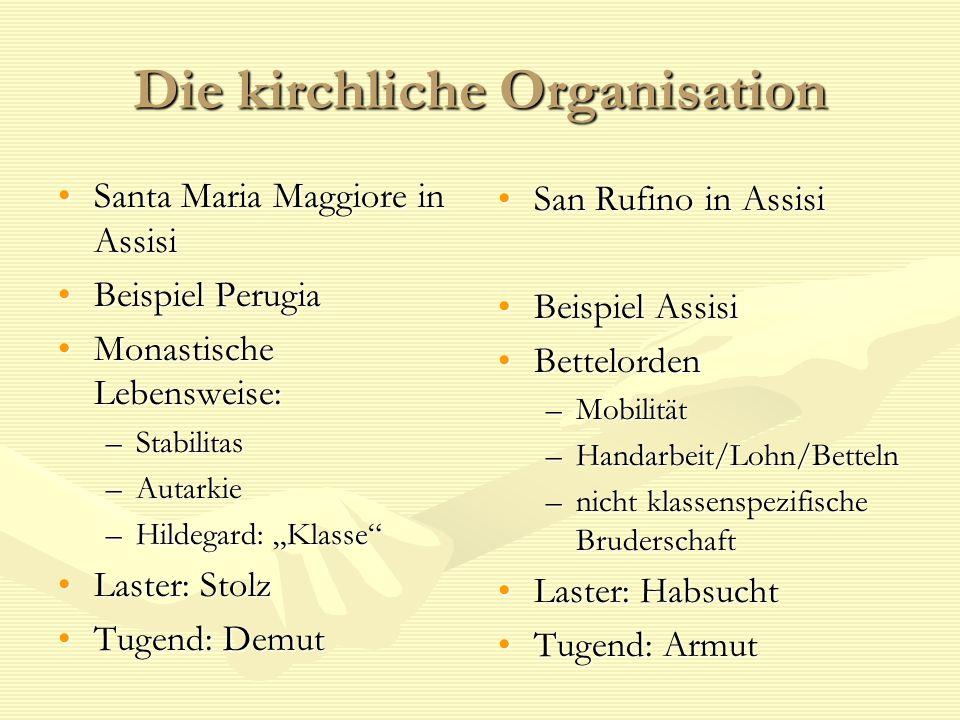 Die kirchliche Organisation