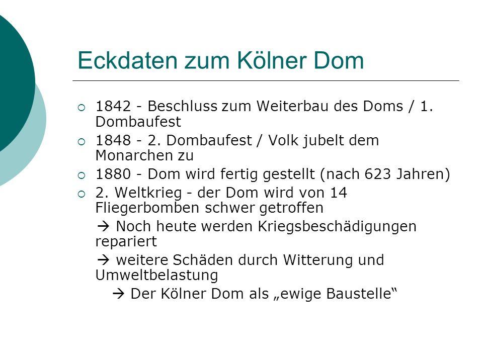 Eckdaten zum Kölner Dom