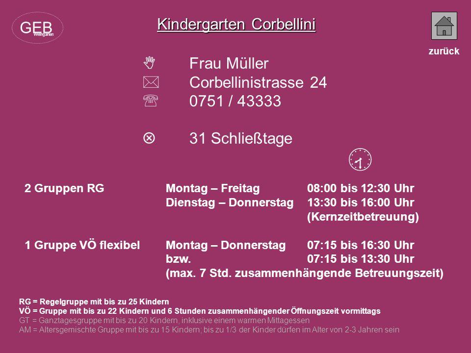 Kindergarten Corbellini GEB  Frau Müller  Corbellinistrasse 24