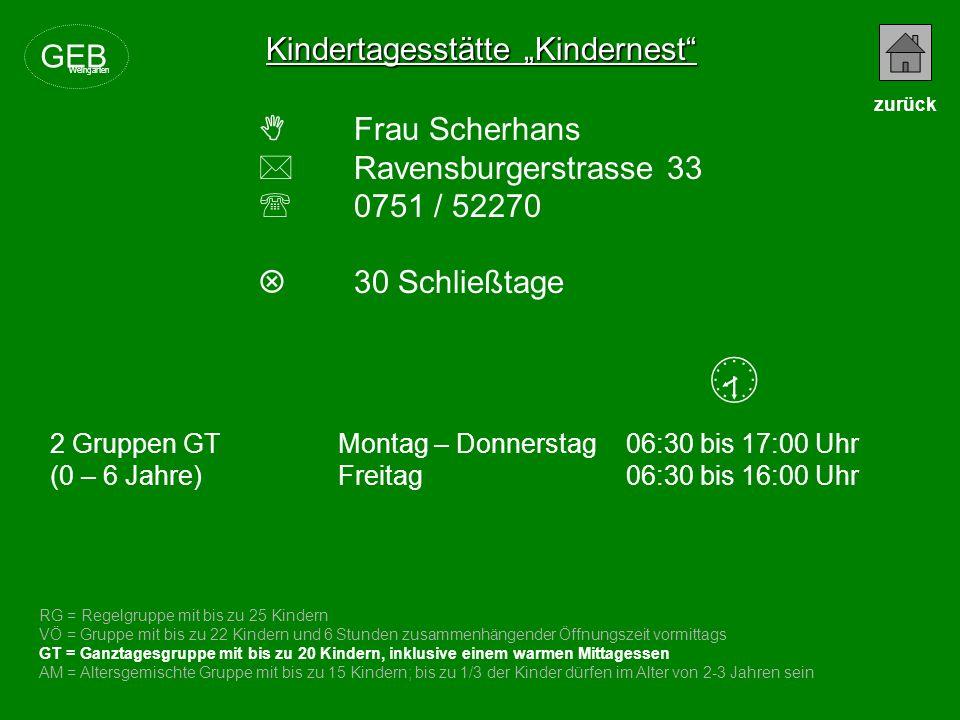 " Kindertagesstätte ""Kindernest GEB  Frau Scherhans"