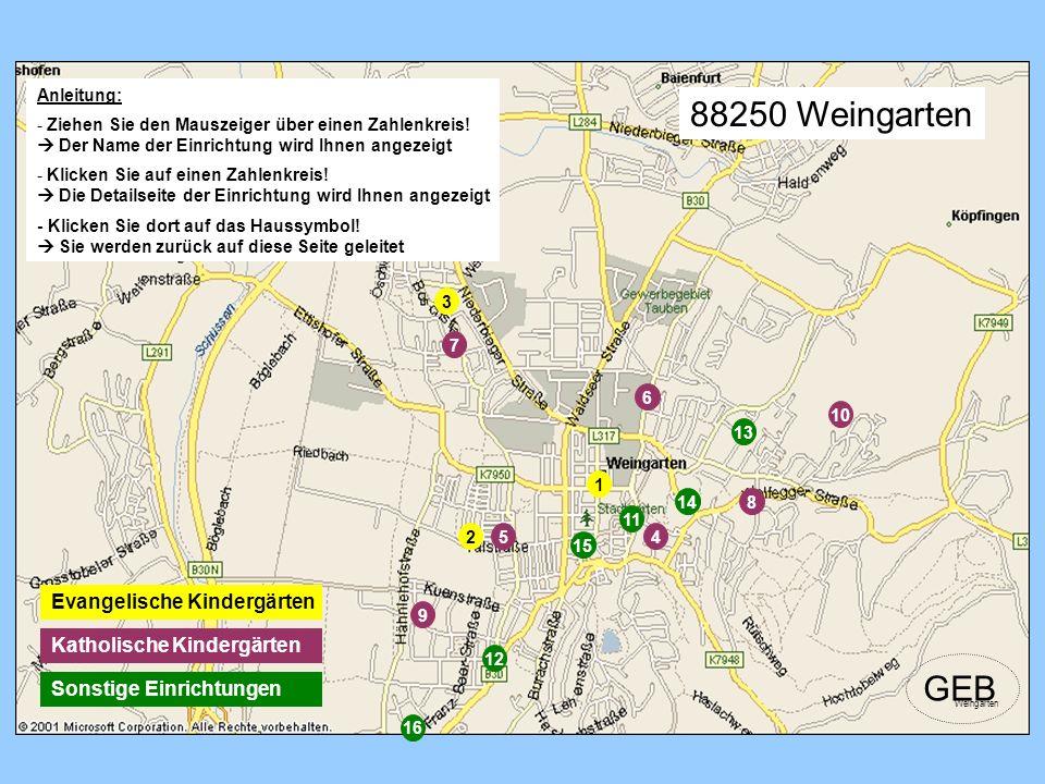 88250 Weingarten GEB Evangelische Kindergärten