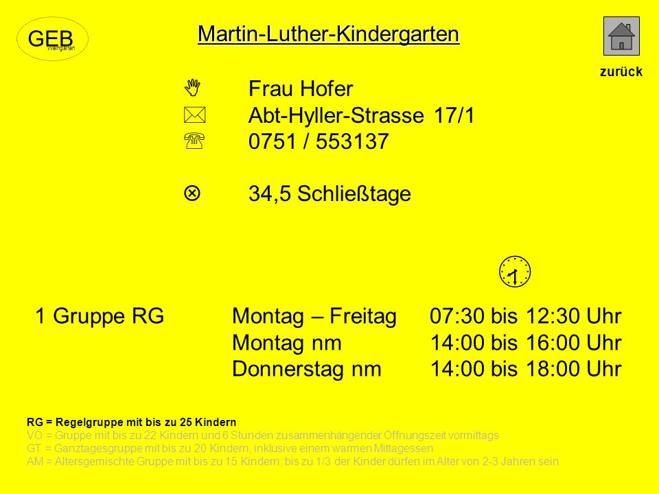  Martin-Luther-Kindergarten GEB  Frau Hofer