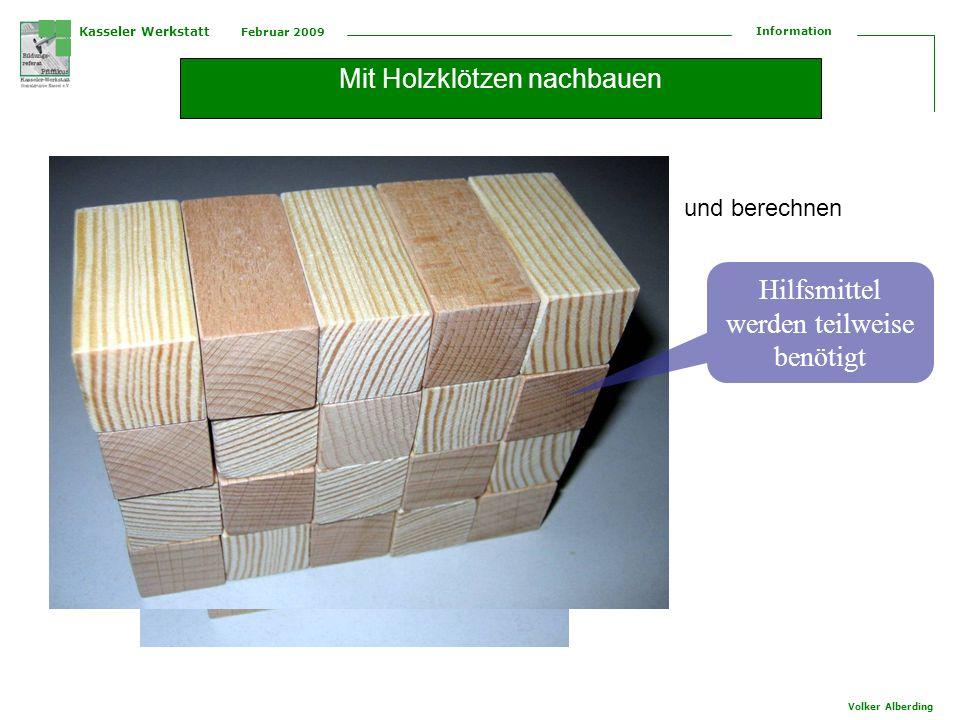 Mit Holzklötzen nachbauen
