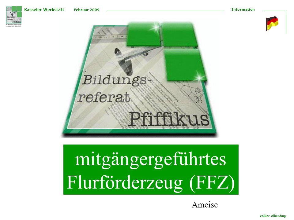 mitgängergeführtes Flurförderzeug (FFZ) Ameise