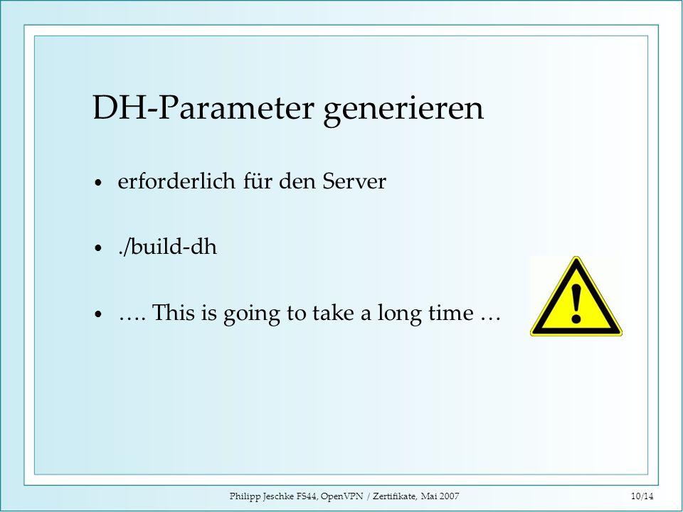 DH-Parameter generieren
