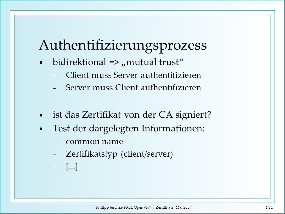 Authentifizierungsprozess