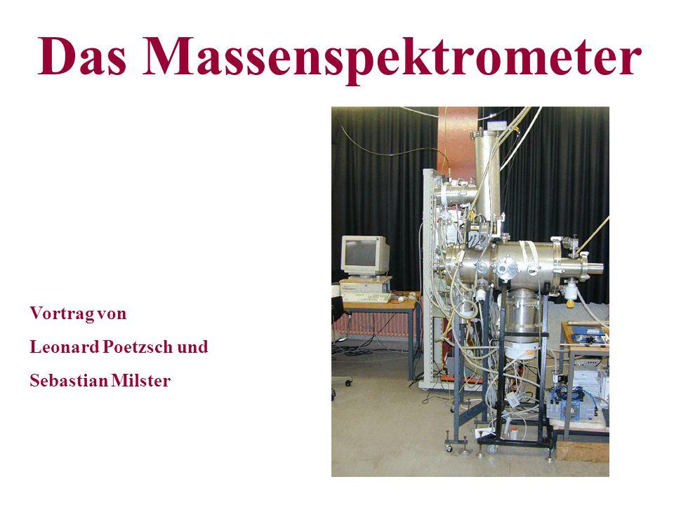 Das Massenspektrometer