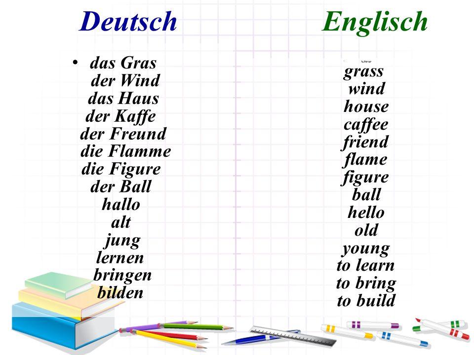 Deutsch Englisch