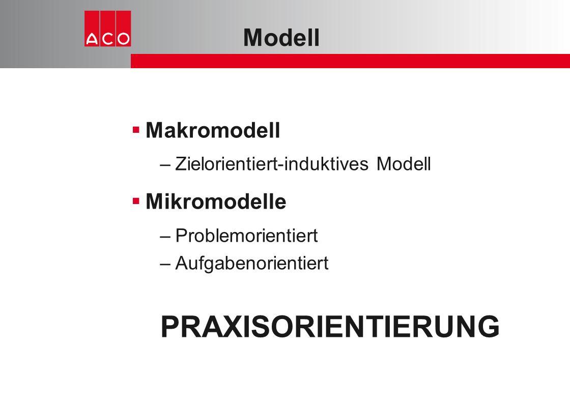 PRAXISORIENTIERUNG Modell Makromodell Mikromodelle