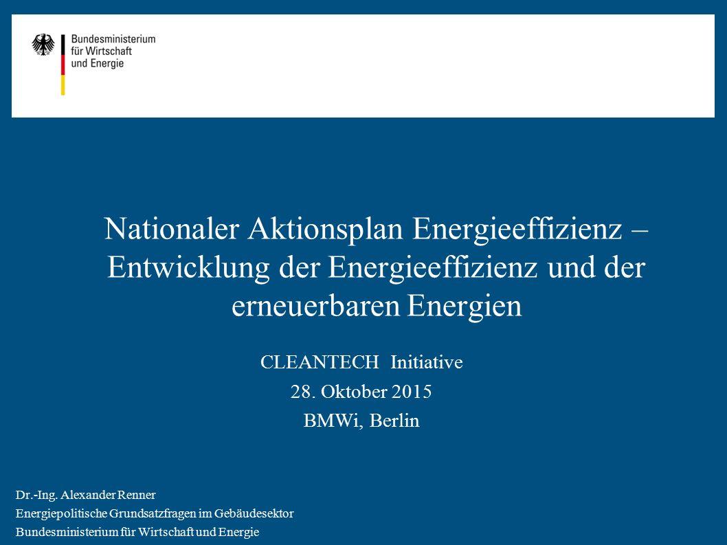 Nationaler Aktionsplan Energieeffizienz – Entwicklung der Energieeffizienz und der erneuerbaren Energien
