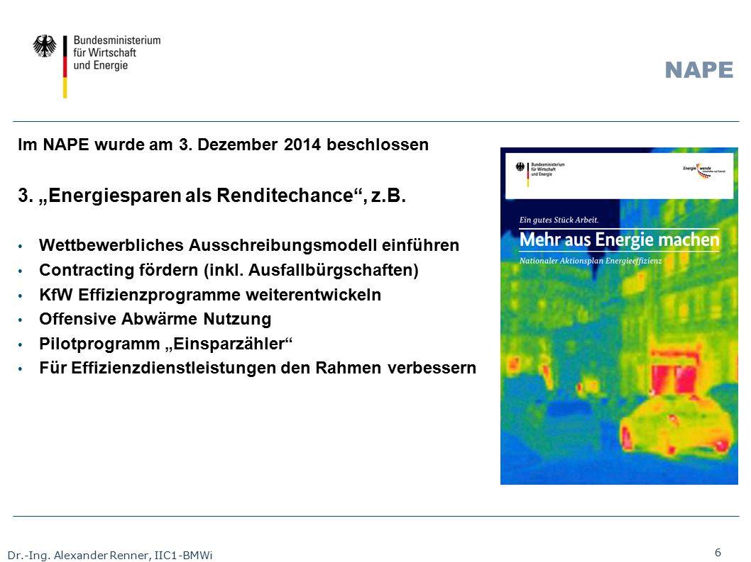 """NAPE 3. """"Energiesparen als Renditechance , z.B."""