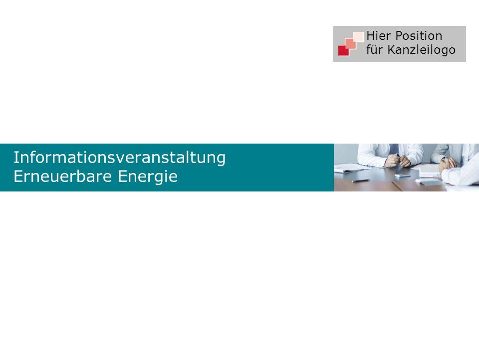 Informationsveranstaltung Erneuerbare Energie