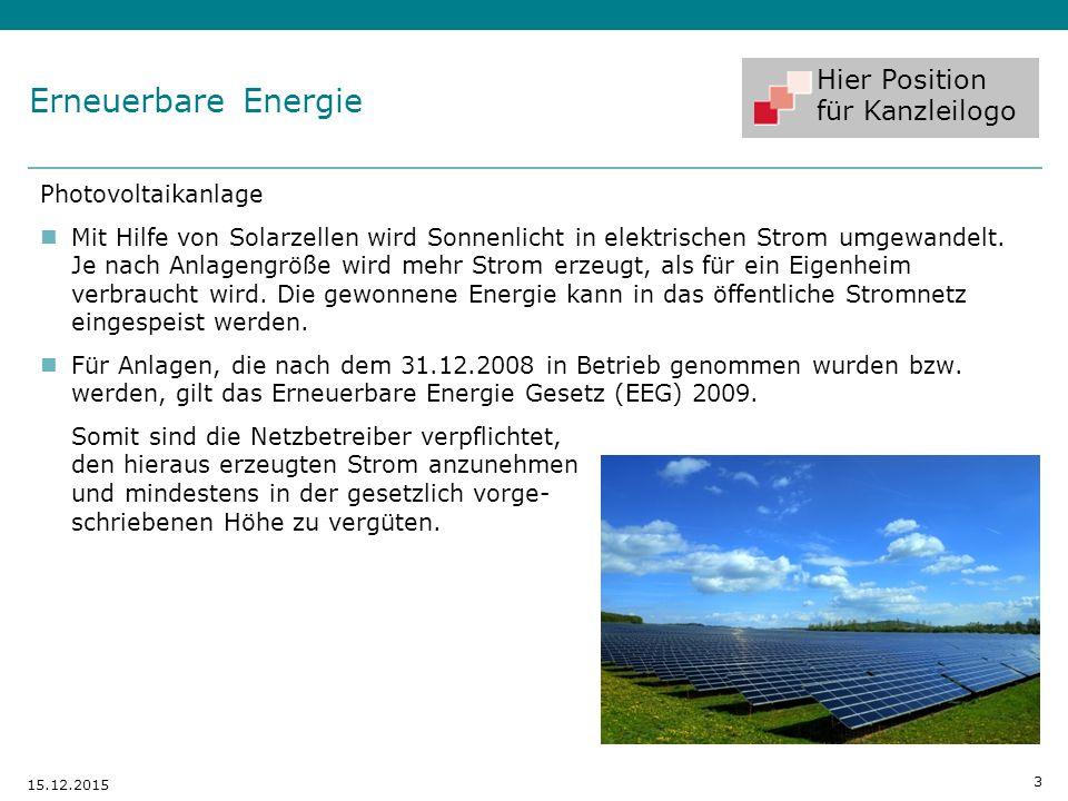 Erneuerbare Energie Photovoltaikanlage