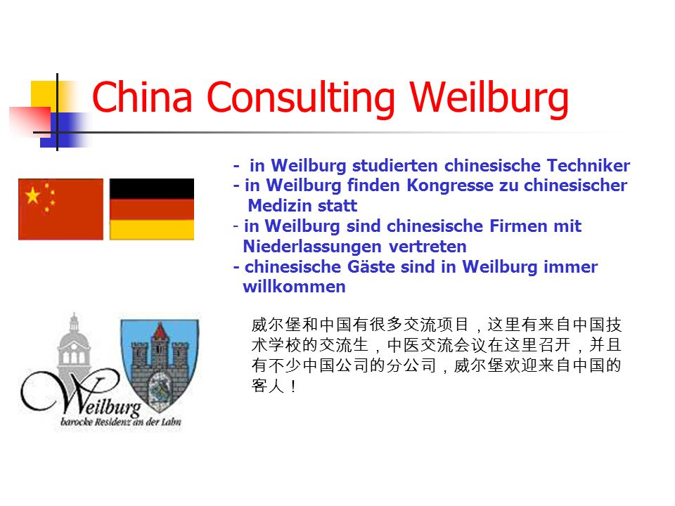 China Consulting Weilburg
