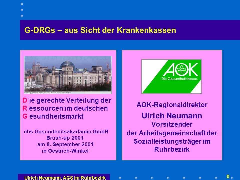 Überblick Gesetzlicher Auftrag: DRG-basierte Fallpauschalen