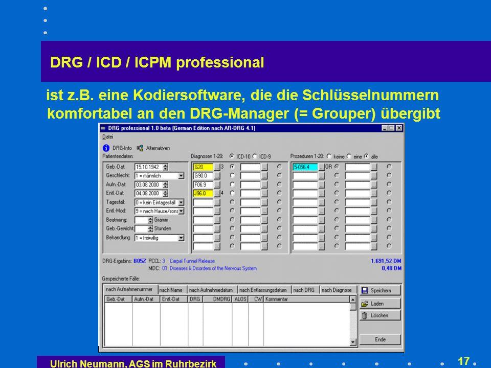 Aufbau der AR-DRG's-Bezeichnungen (Fallgruppen- Nummern)