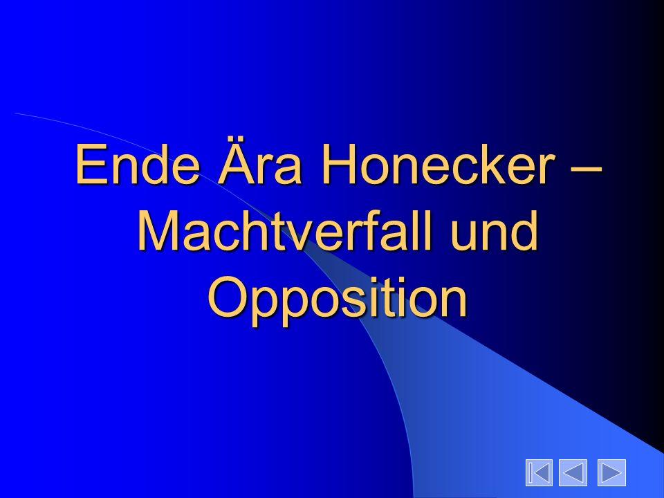 Ende Ära Honecker – Machtverfall und Opposition