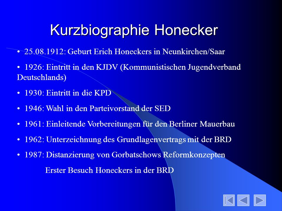 Kurzbiographie Honecker