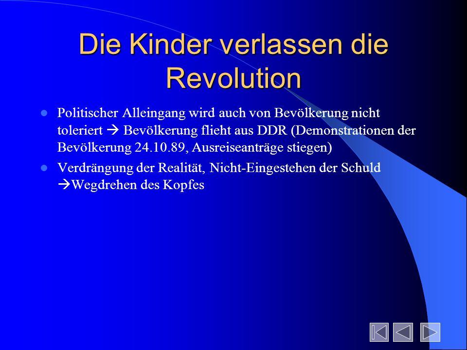 Die Kinder verlassen die Revolution