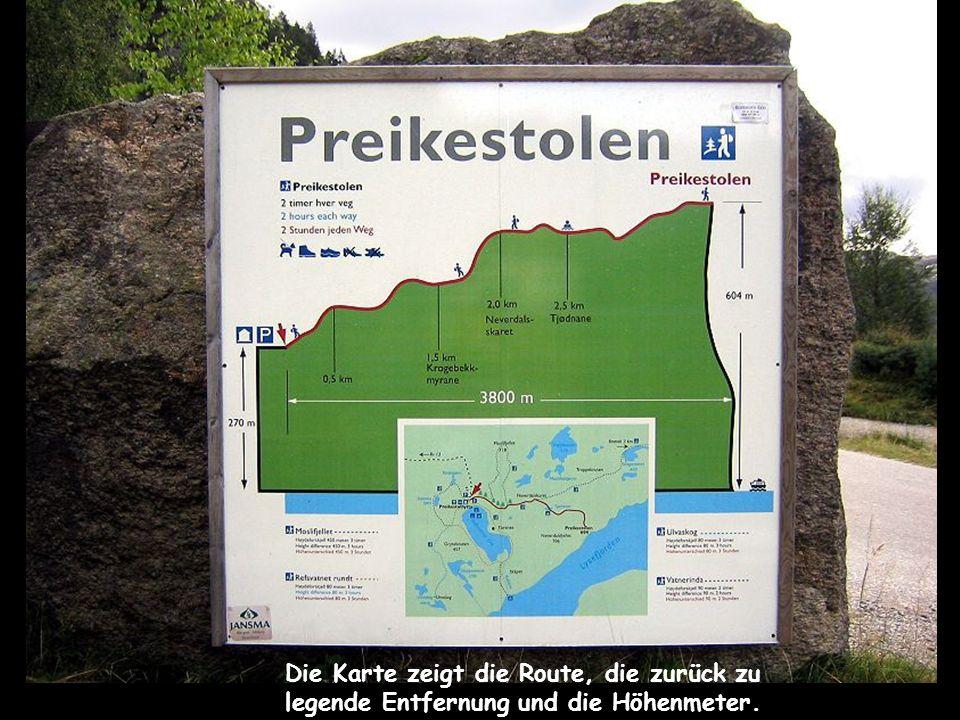 Die Karte zeigt die Route, die zurück zu legende Entfernung und die Höhenmeter.