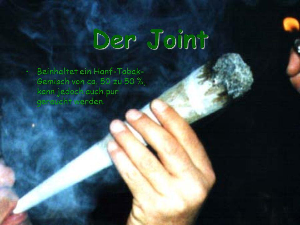 Der Joint Beinhaltet ein Hanf-Tabak-Gemisch von ca.