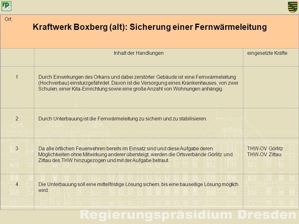 Kraftwerk Boxberg (alt): Sicherung einer Fernwärmeleitung