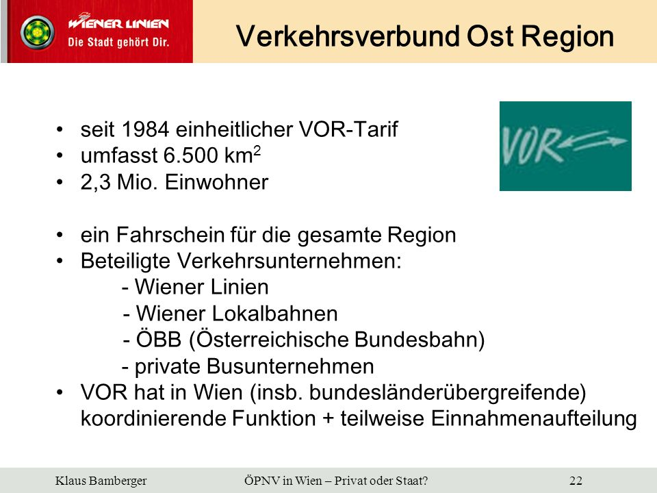 Verkehrsverbund Ost Region