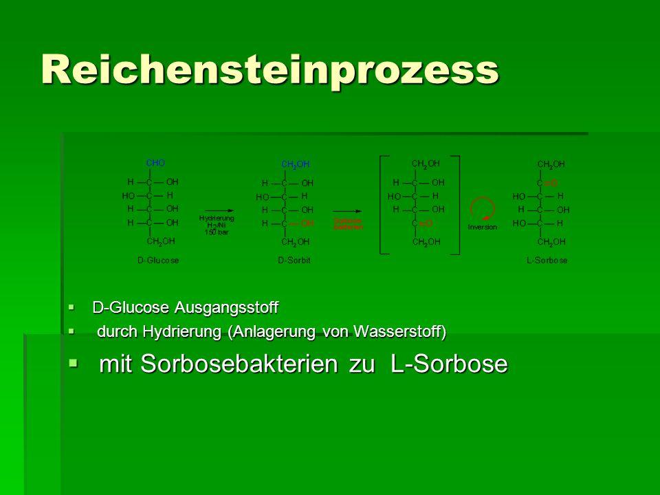 Reichensteinprozess mit Sorbosebakterien zu L-Sorbose