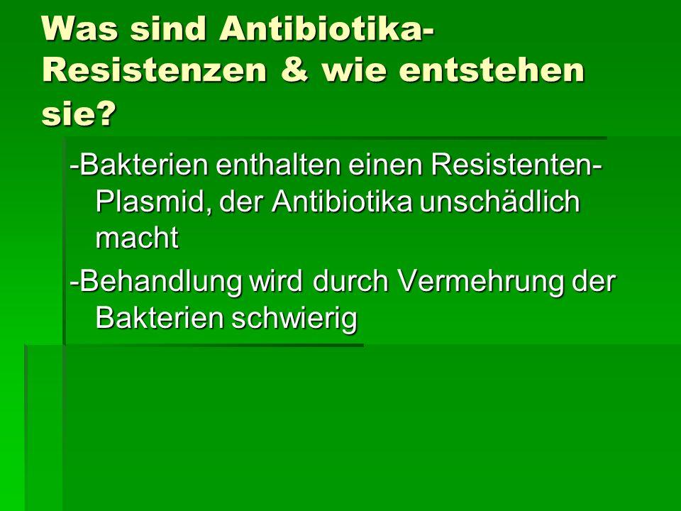 Was sind Antibiotika-Resistenzen & wie entstehen sie