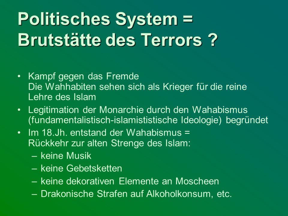 Politisches System = Brutstätte des Terrors