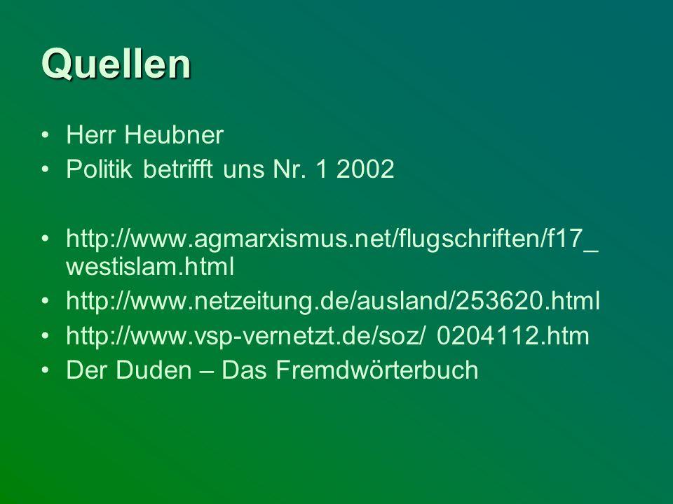 Quellen Herr Heubner Politik betrifft uns Nr. 1 2002