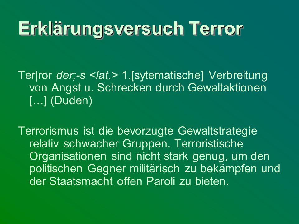 Erklärungsversuch Terror