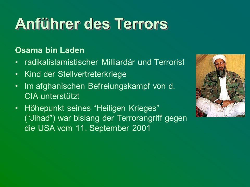 Anführer des Terrors Osama bin Laden