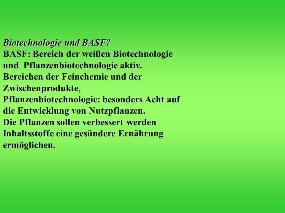 Biotechnologie und BASF