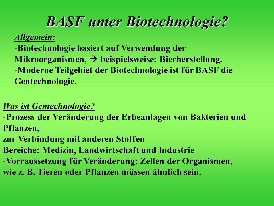 BASF unter Biotechnologie