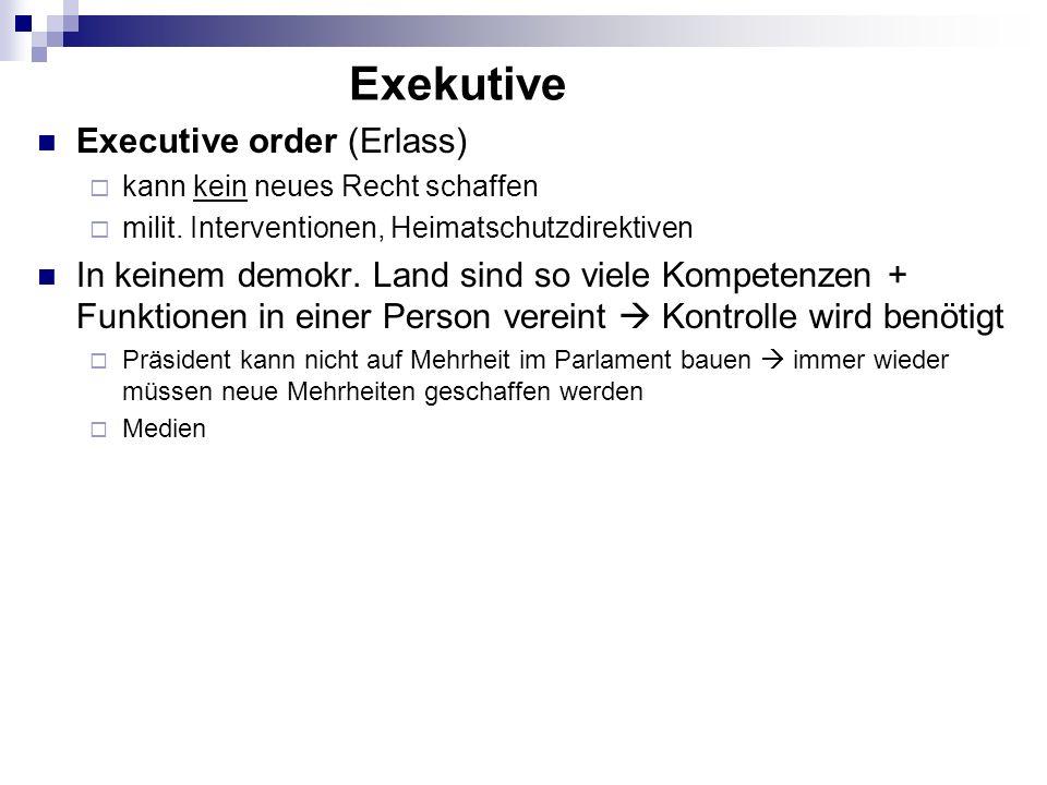 Exekutive Executive order (Erlass)