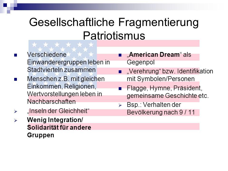 Gesellschaftliche Fragmentierung Patriotismus