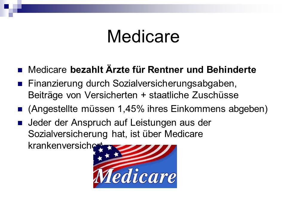 Medicare Medicare bezahlt Ärzte für Rentner und Behinderte