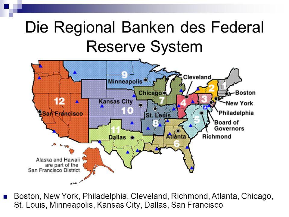 Die Regional Banken des Federal Reserve System