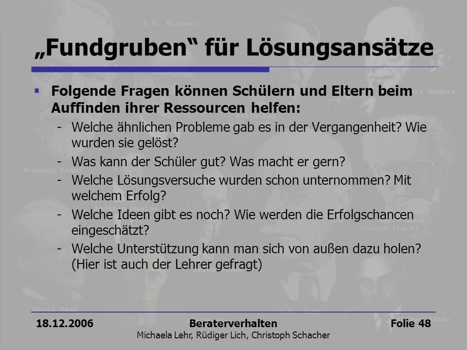 """""""Fundgruben für Lösungsansätze"""