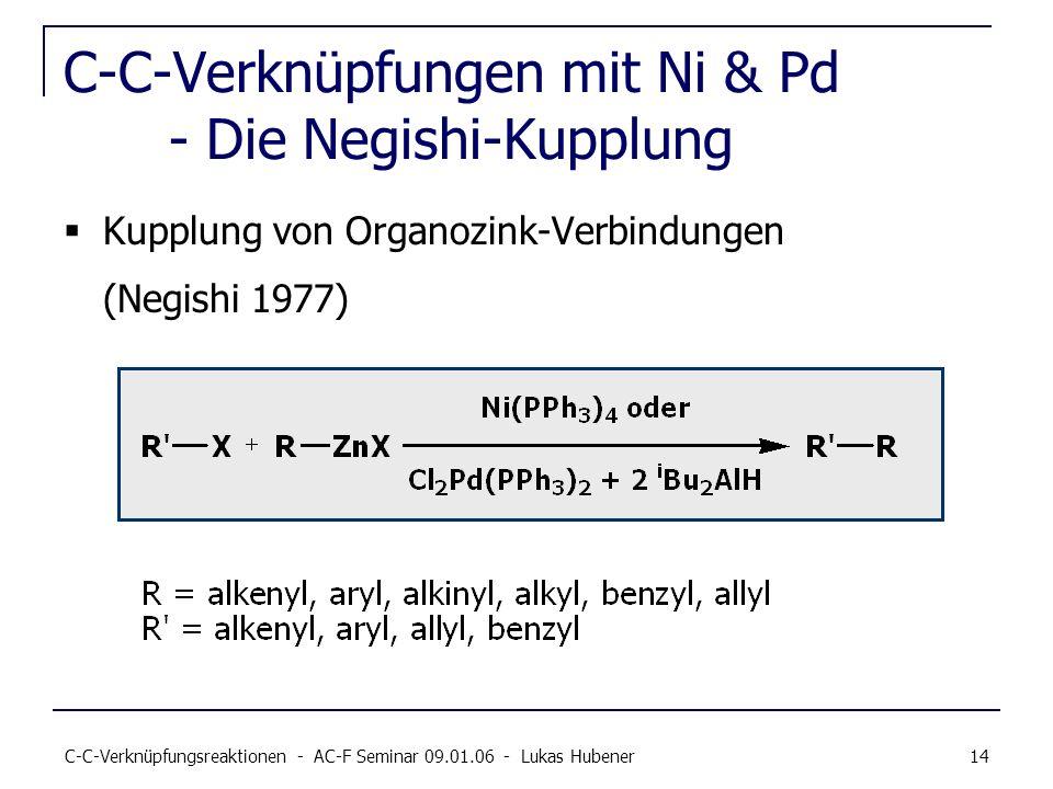 C-C-Verknüpfungen mit Ni & Pd - Die Negishi-Kupplung